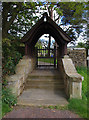 SD5745 : Lychgate, Bleasdale church by Ian Taylor