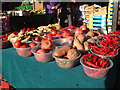 SP0786 : Red veg, outdoor market, Bullring by Robin Stott