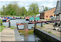 SJ9308 : Calf Heath Bottom Lock, Hatherton Canal, Staffordshire by Roger  Kidd