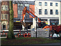 SP3165 : Digging the new sewer trench, Regent Grove by Robin Stott