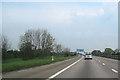 SJ4271 : M53 northbound at Wervin by John Firth