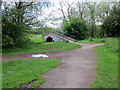 SP0083 : Two Paths Meet at Footbridge Over the Bourn Brook by Roy Hughes