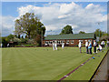 TQ0366 : Chertsey bowling club. by Alan Hunt