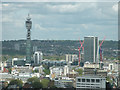 TQ2981 : View of BT Tower from London Eye by Keith Edkins
