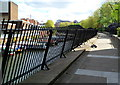 TQ2782 : Inwardly-sloping railings along a Regent's Canal path, London by John Grayson