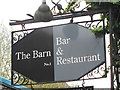 TQ5839 : The Barn sign by Oast House Archive