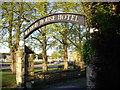 NZ1726 : Gated entrance to Manor House Hotel by Stanley Howe