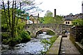 SD9927 : Bridge over Hebden Water, Hebden Bridge by Paul Buckingham