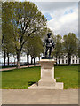 TQ3877 : Old Royal Navy College, Sir Walter Raleigh Statue by David Dixon