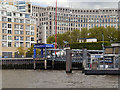 TQ3680 : River Thames, Canary Wharf Pier by David Dixon