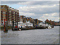 TQ3479 : River Thames, Wapping Pier by David Dixon