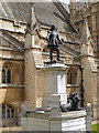 TQ3079 : Palace of Westminster, Oliver Cromwell's Statue by David Dixon
