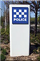 NZ3168 : Police Sign by Christine Westerback