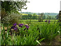 TQ9457 : View from Doddington Place Garden, Doddington by pam fray