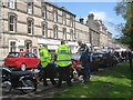 NU0501 : Police and bikers, Rothbury by Jonathan Thacker