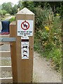 ST4363 : No right of way ahead, Strawberry Line Heritage Trail, Congresbury by Jaggery