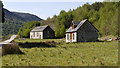 NH2953 : Disused church and cottage in Strathconon by Trevor Littlewood