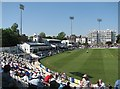 TQ2905 : The County Ground, Hove: after the tea interval by John Sutton