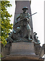 "SD7427 : Oswaldtwistle War Memorial, ""Patriotism"" by David Dixon"