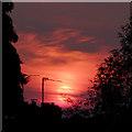 SO9096 : Sunset over Penn, Wolverhampton : Week 21