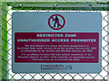 SJ4282 : Restricted Zone Unauthorised Access Prohibited. by David Dixon