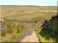 SD9613 : Pennine Bridleway and Norman Hill Reservoir by David Dixon