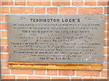 TQ1671 : Teddington Locks Plaque by Colin Smith