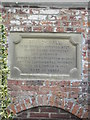 Photo of Laurence Sterne stone plaque