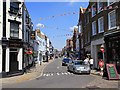 SU9677 : High Street, Eton, with bunting by David P Howard