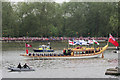 TQ2777 : Gloriana rowbarge, Jubilee Pageant by Oast House Archive