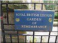 SK2168 : Plaque, Royal British Legion by Kenneth  Allen