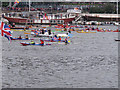 TQ2777 : Diamond Jubilee Pageant - kayaks by David Hawgood