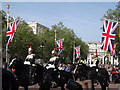 TQ2980 : Blues and Royals on The Mall by Colin Smith