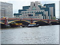 TQ3078 : Redoubt passing under Vauxhall Bridge by PAUL FARMER