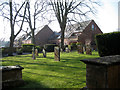 SP2054 : South side of Holy Trinity Churchyard by Robin Stott