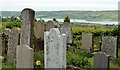 J4493 : Graveyard, Templecorran old church, Ballycarry by Albert Bridge