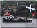 TQ2777 : Diamond Jubilee Pageant - St Ives lugger &quot;Barnabas&quot; by David Hawgood