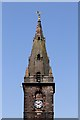 NX9775 : The clock tower and steeple at St Michael's and South Parish Church, Dumfries by Walter Baxter