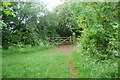 SP3918 : Footpath/bridlepath crossing by John Myers