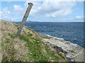 HY4034 : Fence line, Rousay, Orkney by Claire Pegrum