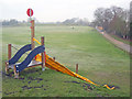 SK7953 : Childrens slide in Sconce Park by Trevor Rickard