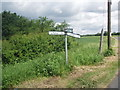 TL9047 : Junction of Lanes Outside Long Melford by b davies