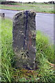 SE1540 : Benchmarked stone at Bingley Road junction by Roger Templeman
