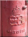 TA1866 : Bridlington: detail of an Edward VIII postbox by Chris Downer