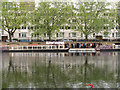 TQ2681 : Queue for the (water) bus, Little Venice by David Hawgood