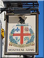 TQ3104 : Sign for The Montreal Arms, Albion Hill / Montreal Road, BN2 by Mike Quinn