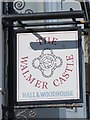TQ3104 : Sign for The Walmer Castle, Queen's Park Road / Albion Hill, BN2 by Mike Quinn