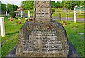 TQ0152 : Burpham War Memorial (2) - inscription, Burpham Lane, Burpham, Guildford by P L Chadwick