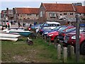 TG0244 : Norfolk Coast Path sign, The Quay, Blakeney by John Brightley