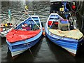 NZ3668 : Coble fishing boats, North Shields Fish Quay by Andrew Curtis